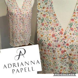 Adrianna Papell Floral Print Blouse